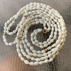 Jewelry - 14K Rice Pearle Necklaces